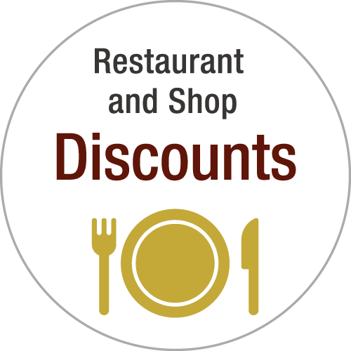 Restaurant and Shop - Discounts